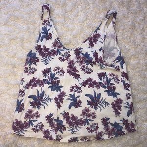 American Eagle Outfitters Tops - Open Back Floral Tank Top